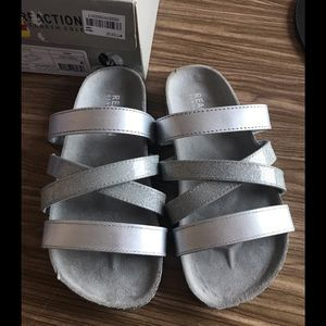 Kenneth Cole Reaction Glitter Sandals Girls 12 NEW